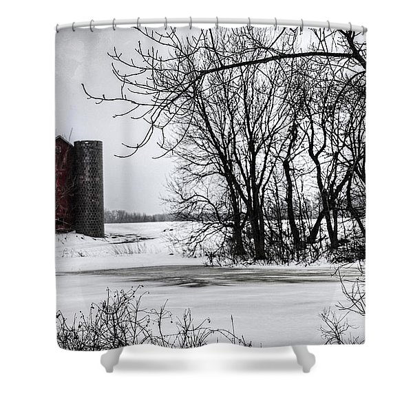 Alpine Barn Michigan Shower Curtain