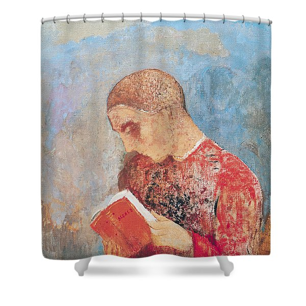 Alsace Or Monk Reading Shower Curtain