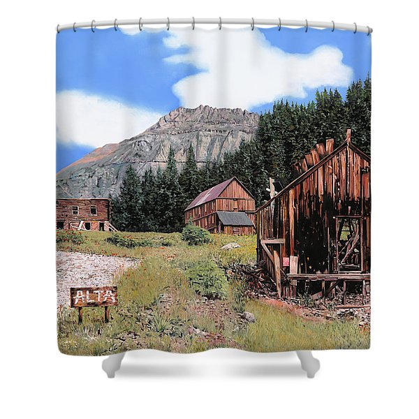 Alta In Colorado Shower Curtain