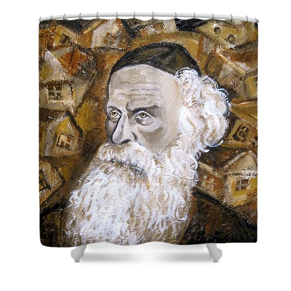 Alter Rebbe Shower Curtain