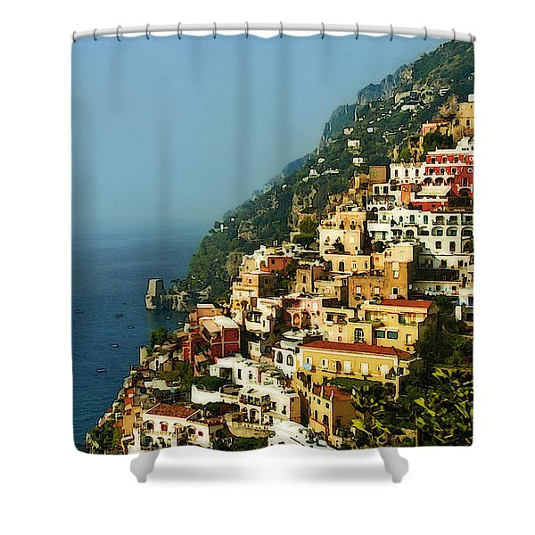 Positano Impression Shower Curtain