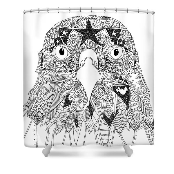 Amarican Eagle Black White Shower Curtain