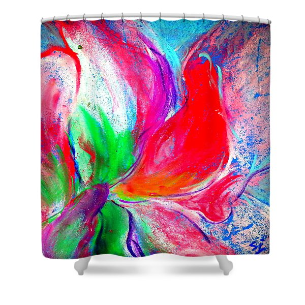 Funky Amaryllis Lily Shower Curtain