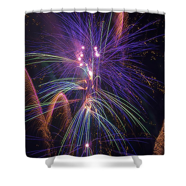 Amazing Beautiful Fireworks Shower Curtain