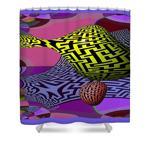 Mandelbrot Maze Shower Curtain