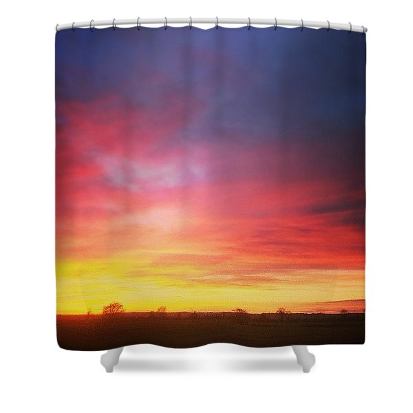 Amazing Sunset The Other Day Shower Curtain