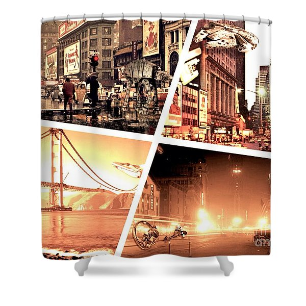 America Reloaded Shower Curtain
