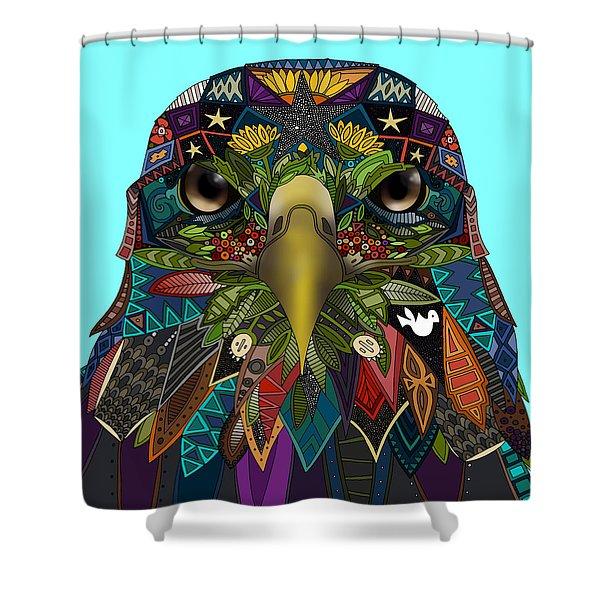 American Eagle Blue Shower Curtain
