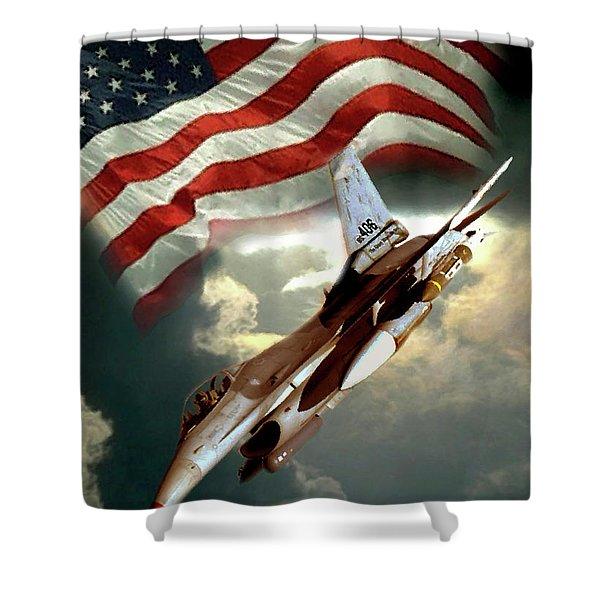 American Feedom  Shower Curtain