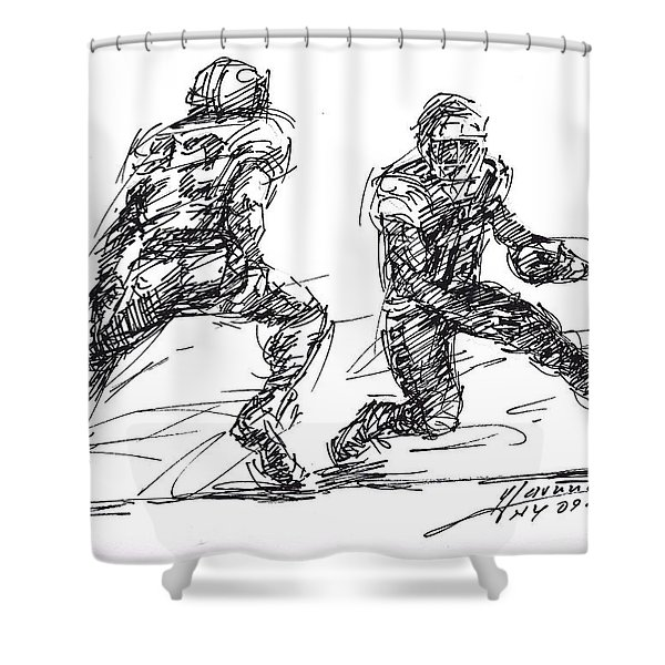 American Football 3 Shower Curtain