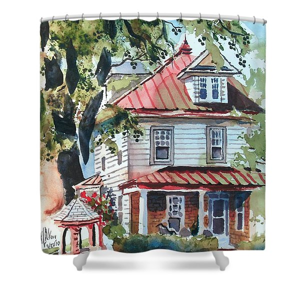 American Home With Children's Gazebo Shower Curtain