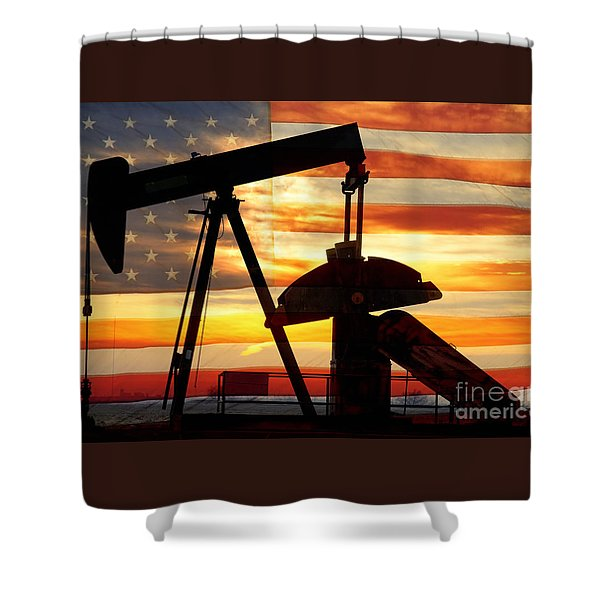 American Oil  Shower Curtain