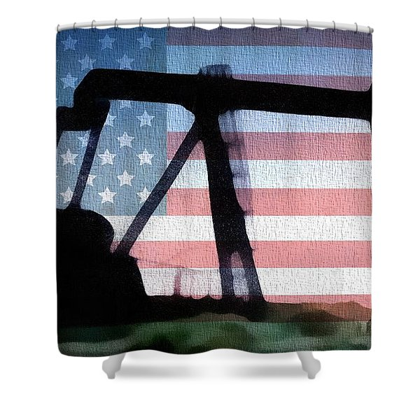 American Oil Rig Shower Curtain