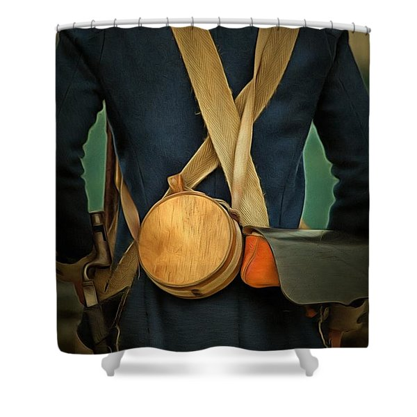 American Revolutionary Soldier Shower Curtain