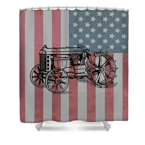 American Tractor Shower Curtain
