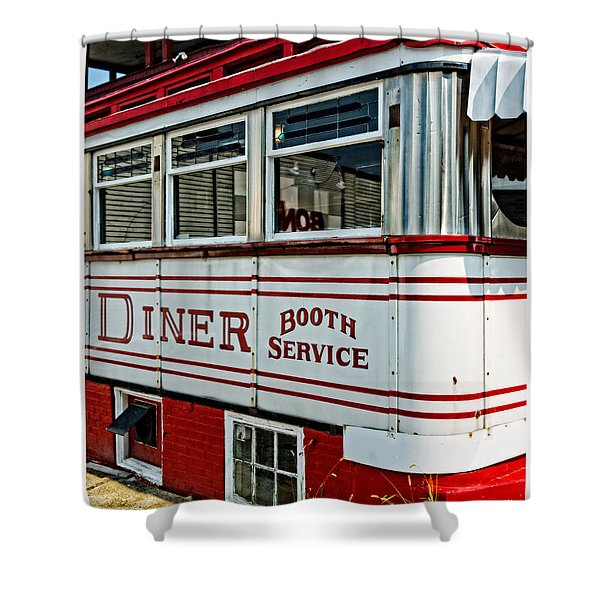 Americana Classic Dinner Booth Service Shower Curtain