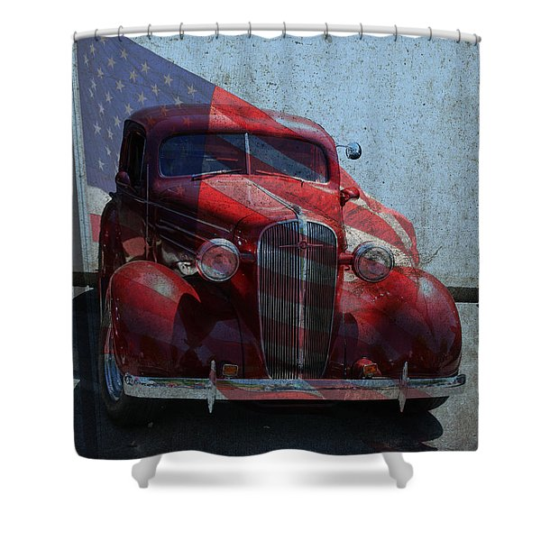 Americana Nbr 1 Shower Curtain
