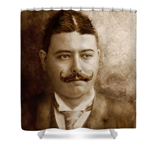 Americana - People - The Boss Shower Curtain by Mike Savad