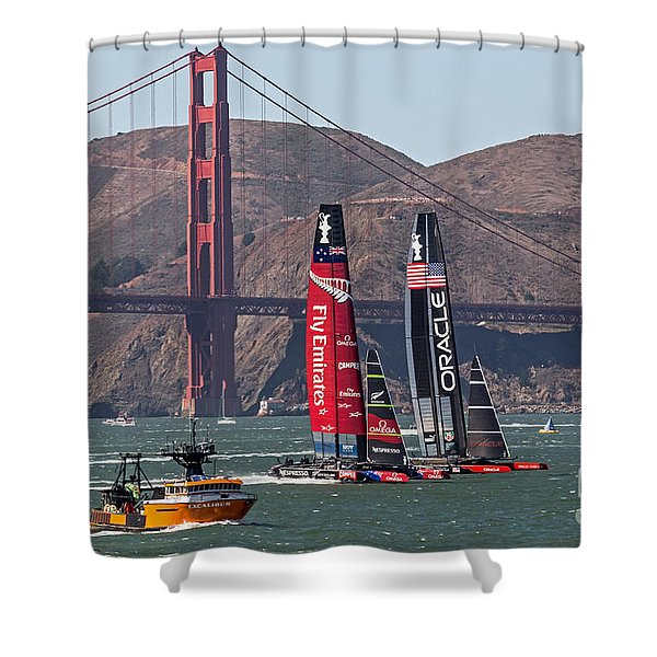 Americas Cup At The Gate Shower Curtain