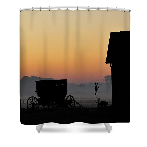 Amish Buggy Before Dawn Shower Curtain