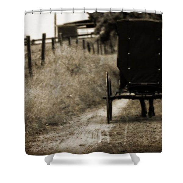 Amish Horse And Buggy Shower Curtain