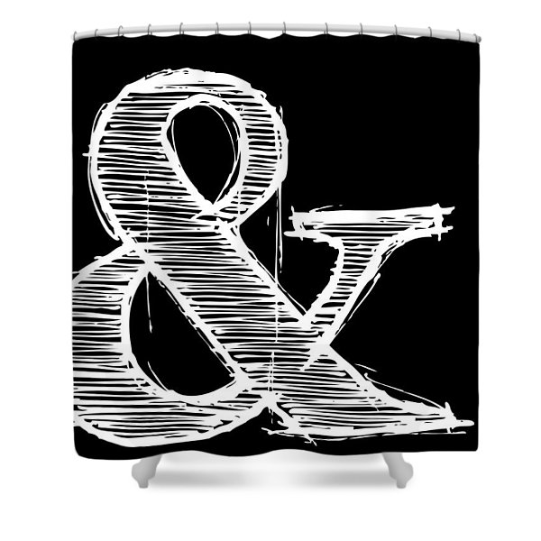 Ampersand Poster 2 Shower Curtain