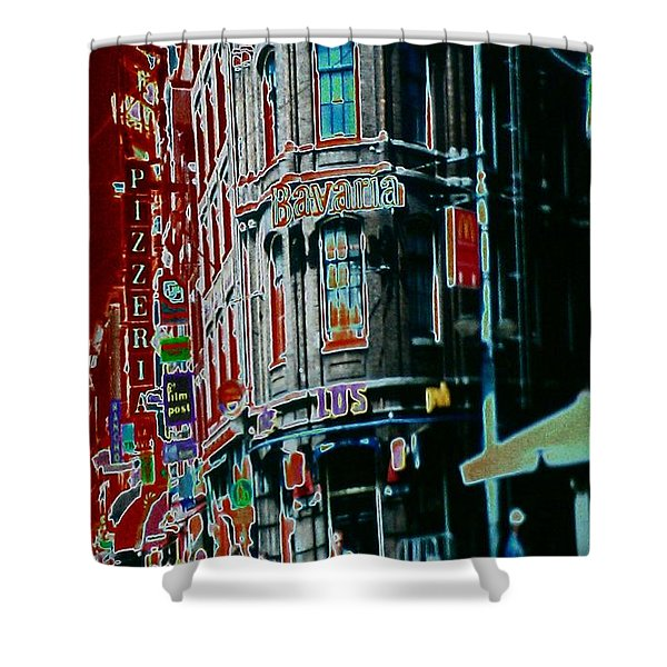 Amsterdam Abstract Shower Curtain