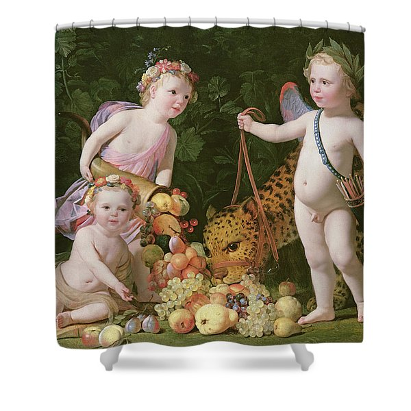 An Allegory Of Peace And Plenty Shower Curtain