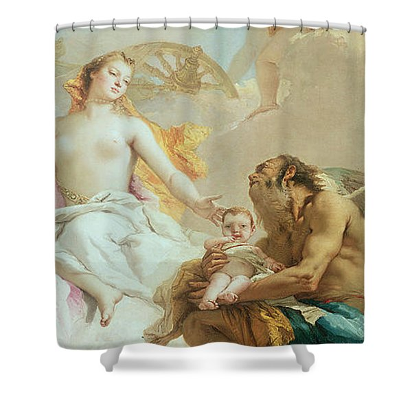 An Allegory With Venus And Time Shower Curtain