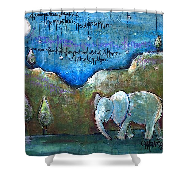 An Elephant For You Shower Curtain