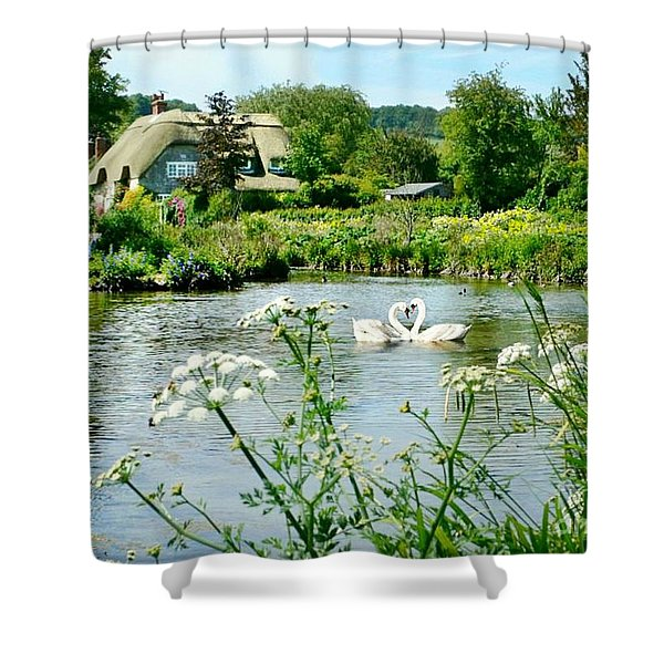 An English Cottage Shower Curtain