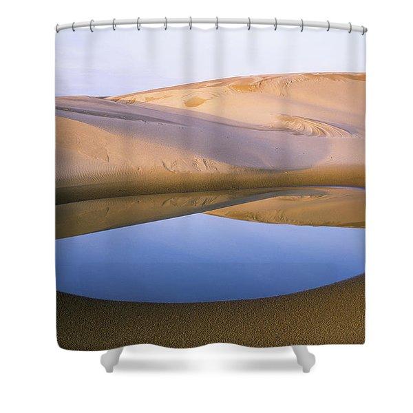An Ephemeral Pond Mirrors The Umpqua Shower Curtain