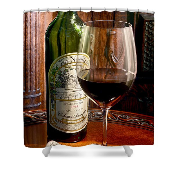 An Evening With Far Niente Shower Curtain
