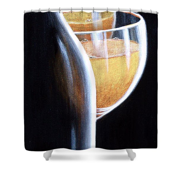 Shower Curtain featuring the painting An Indecent Proposal by Sandi Whetzel