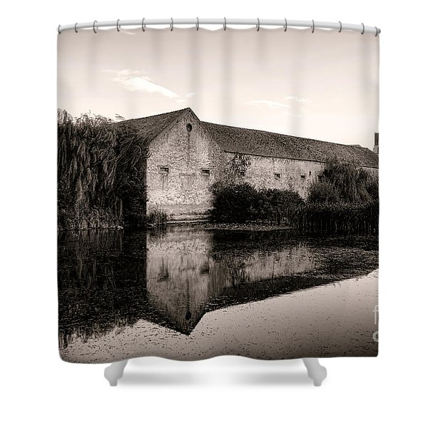 An Old Fortified Farm Shower Curtain