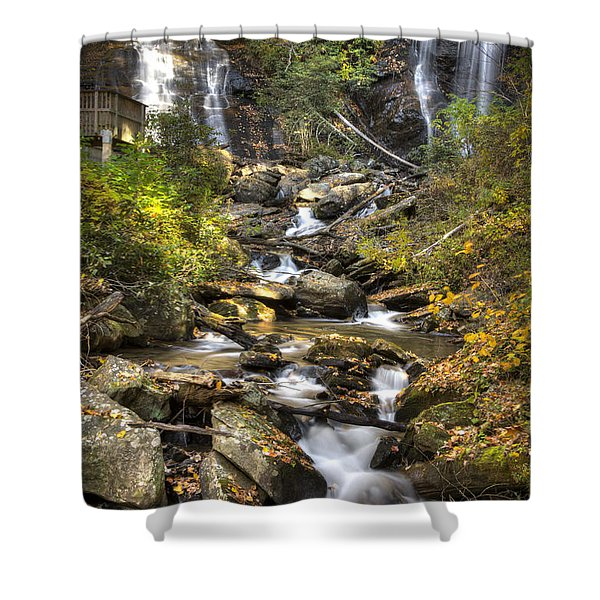 Ana Ruby Falls In Autumn Shower Curtain