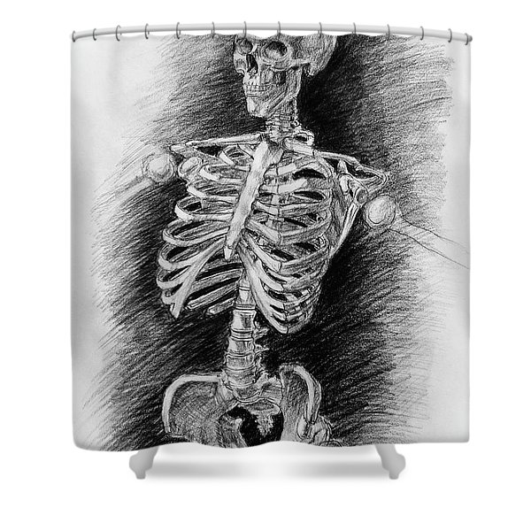 Anatomy Study Mister Skeleton Shower Curtain