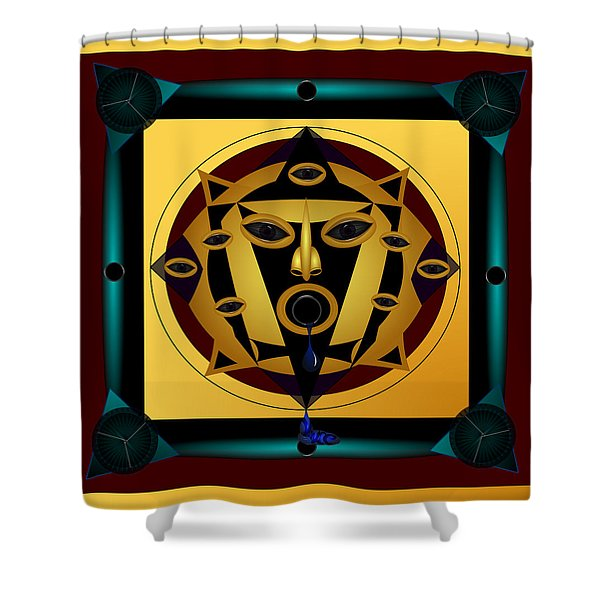Ancient Eyes Shower Curtain