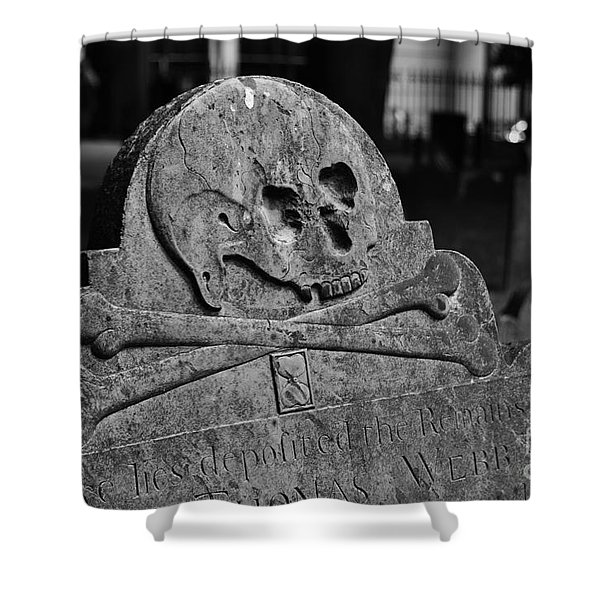 Ancient Gravestone Shower Curtain