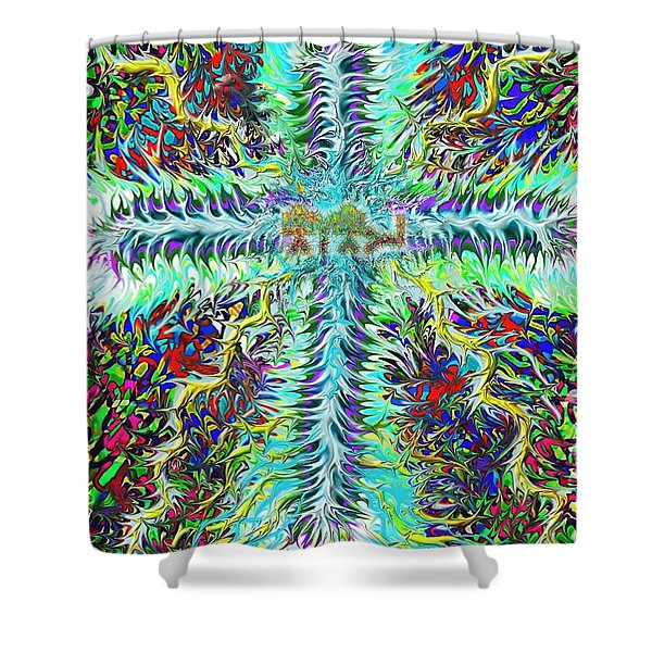 Ancient Hebrew Yhwh Cross 6 7 2014 Shower Curtain