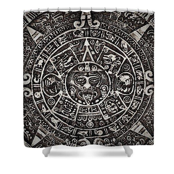 Aztec Sun God Shower Curtain