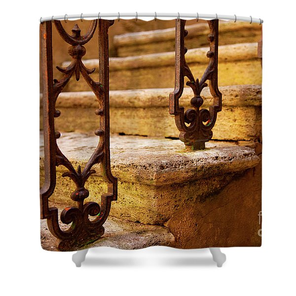 Shower Curtain featuring the photograph Ancient Steps by Brian Jannsen