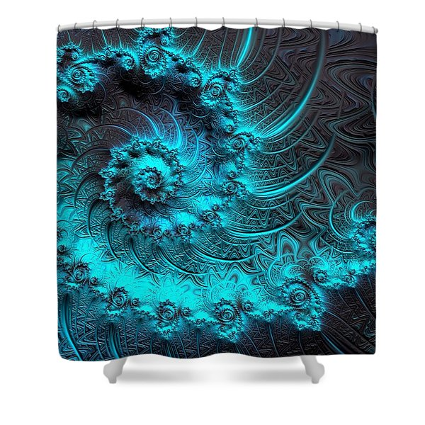 Ancient Verdigris -- Triptych 1 Of 3 Shower Curtain