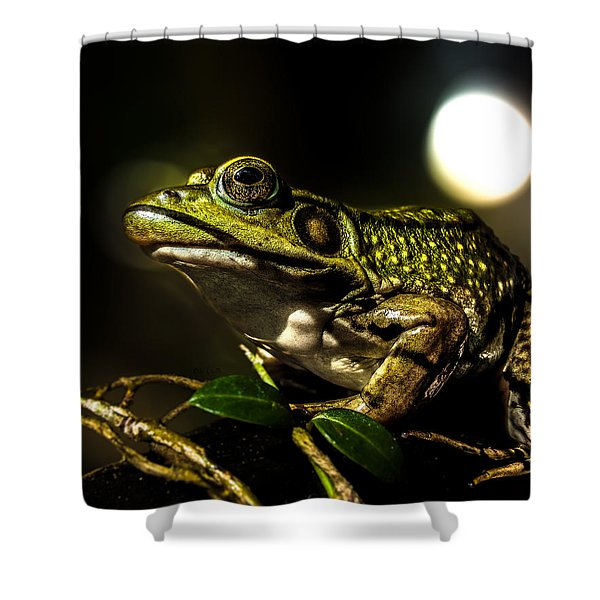 And This Frog Can Sing Shower Curtain