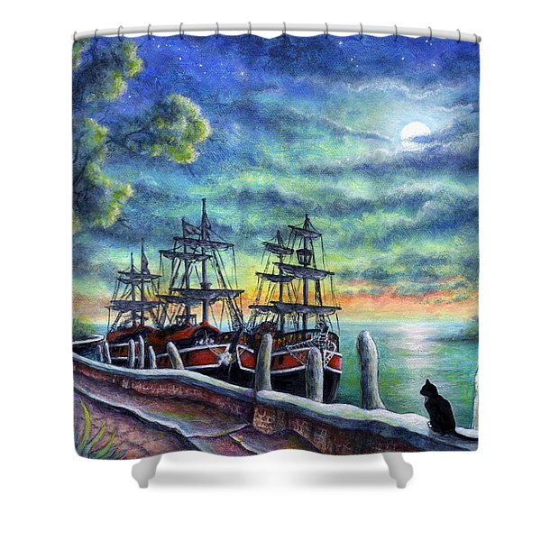 And We Shall Sail My Love And I Shower Curtain