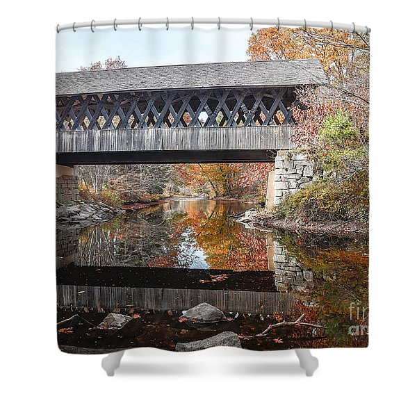 Andover Covered Bridge Nh 2 Shower Curtain