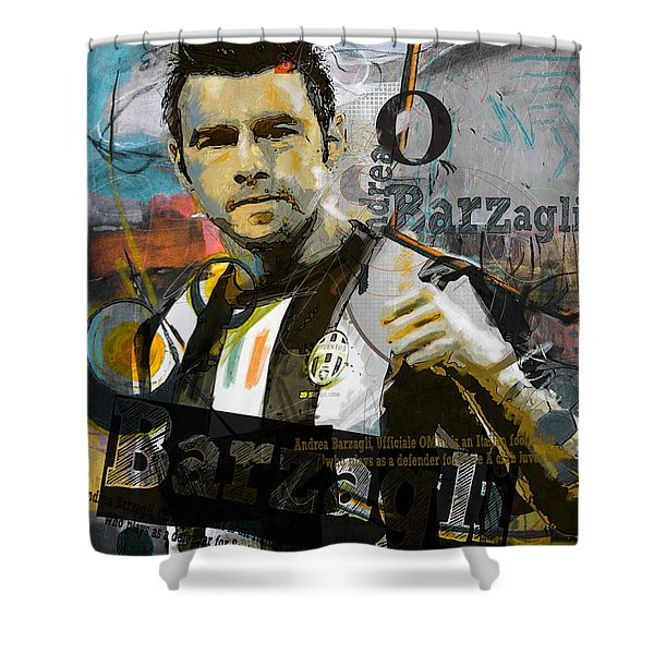Andrea Barzagli - C Shower Curtain
