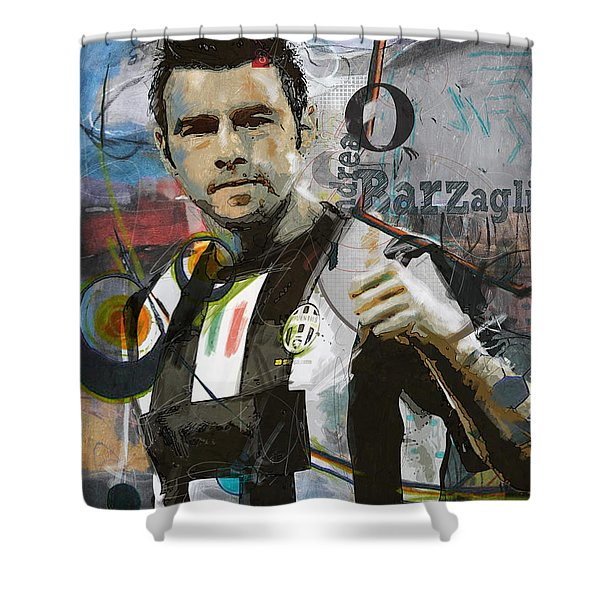Andrea Barzagli Shower Curtain