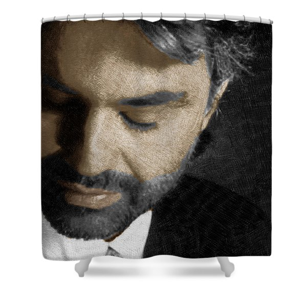 Andrea Bocelli And Square Shower Curtain