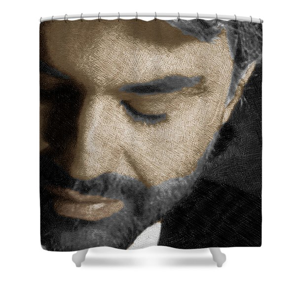 Andrea Bocelli And Vertical Shower Curtain